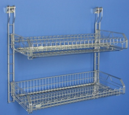 Tphwd 8222 8262 Grade 304 Stainless Steel Two Tier Wall Mounted Dish Rack Size 550 X
