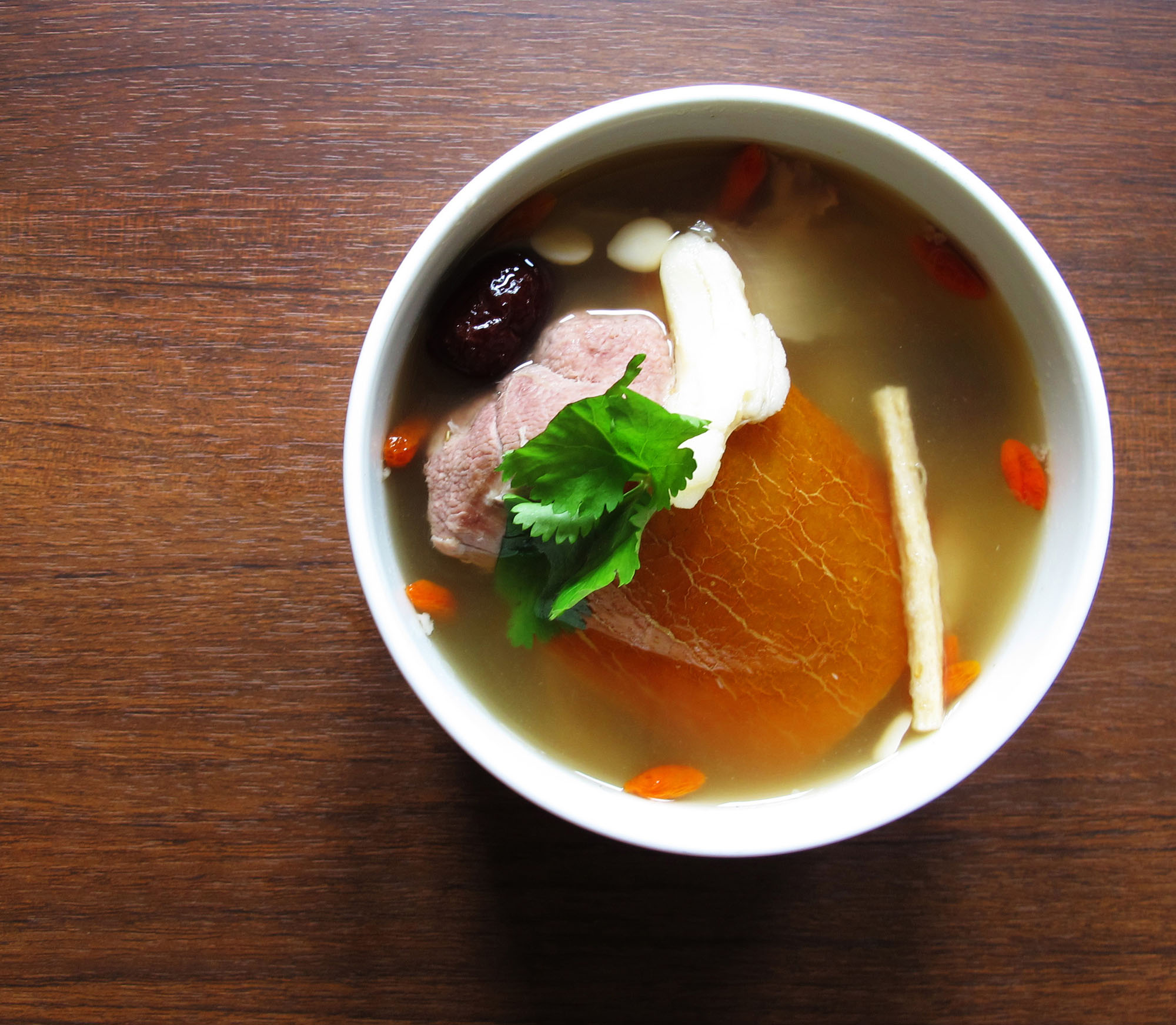 Old Cucumber with Duck Soup