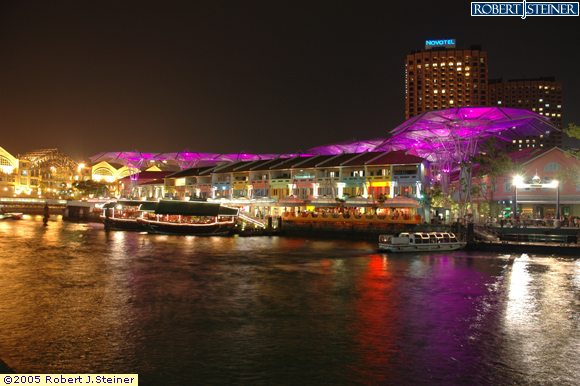 Clarke Quay, Purple Lights on Clarke Quay