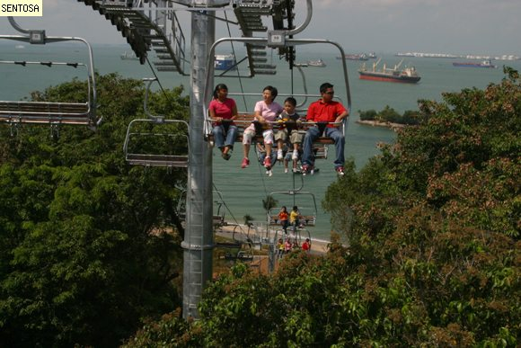 Sentosa Luge, Chairlift Ride